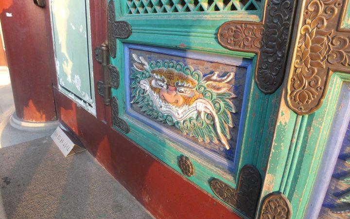 26.09.19. Boyalı bir tapınak kapısı. Yazarın kendi çektiği fotoğraf. KORE