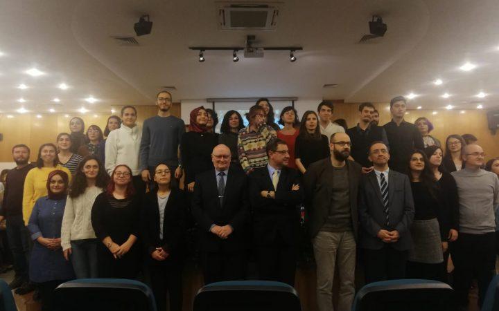 Bilkent Üniversitesi Türkçe Dersi Ödül Töreni. 29 Kasım 2019.