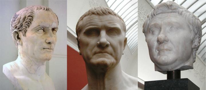 Ceasar, Crassius, Pompeius
